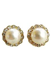 Earring Stud Earrings Jewelry Women Party / Daily Pearl White
