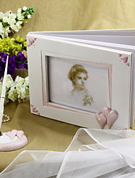 Double Heart Wedding Collection Set Including Guest Book,Pen Holder (2 Pieces)