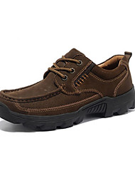 NPN Genuine Leather Scrub Casual Shoes Coffee