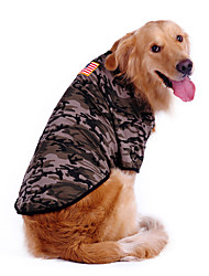 камуфляж большие собаки футболка для собак (S-XL)