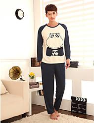 Men's Knitting Cute Bear Lovers Lounge Wear