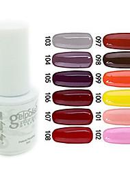 yemannvyou®sequins colore uv del gel del chiodo no.97-108 polacco (5 ml, colori assortiti)
