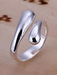 Elegant Messing Verzilverd Dames Ringen