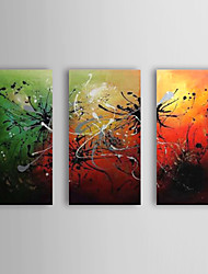 Hand Painted Oil Painting Abstract with Stretched Frame Set of 3 1309-AB0946