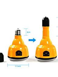 E27 4W Led White Bulb Rechargeable Emergency Light Flashlight Spotlight With Remote Control(Cis-57183)