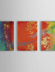 Hand Painted Oil Painting Abstract with Stretched Frame Set of 3 1309-AB0970
