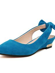 slingbacks camurça bom gosto baixos sapatos casuais encravado (mais cores)