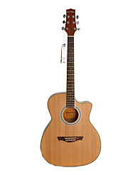 "Hawks 40"" Beginner Cutaway Sapelle Plywood Top Satin Acoustic guitar"