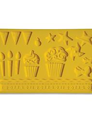 Fondant & Gum Paste Fabric Designs Silicone Mold Kids Party