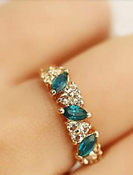 Emerald Rhinestone Ring