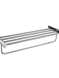 Modern Design Chrome Brass Bath Towel Shelf