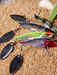 1 pcs Hard Bait / Vibration/VIB / Fishing Lures Vibration/VIB / Hard Bait Black / Green / Yellow / Red / Assorted Colors g Ounce mm inch,