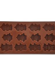 Silicone Robot Forma Chocolate molde Jelly Pudim Mold