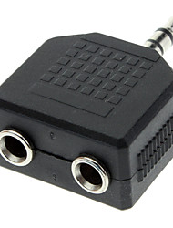 3.5mm mâle à femelle double de Split Audio Adapter