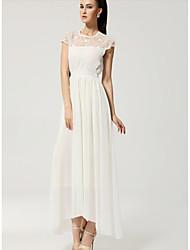 ShaMaQiNuo Women's Fashion Waist Embroidery Long Dress