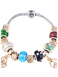 Fashion Alloy Gold Charm Bracelet plaqué