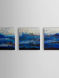 Hand Painted Oil Painting Abstract Water with Stretched Frame Set of 3 1310-AB1199