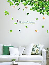 Pflanzen Blätter und Schmetterlinge Wandsticker