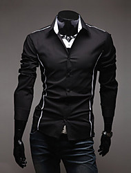 Men's Coats & Jackets , Cotton Blend Casual Langdeng
