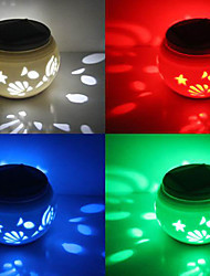 Chic Ceramic RGB LED Color-Changing Solar Powered Garden Light -Solar Table Light- Solar Small Night Light In Jar Design