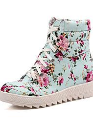Floral impressão em tela plana calcanhar Flats Sapatinho / Ankle Boots Calçados casuais (mais cores)