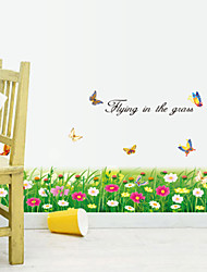 Botanical Flying in the Grass Wall Stickers