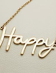 Collier Wrot de haute qualité avec des lettres Happy