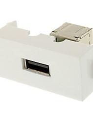 Keystone Jack USB 3.0 A femelle à une femelle Coupler Adapter Flush Type Blanc