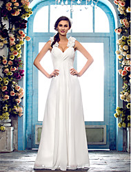 Lanting Dress - Ivory Petite / Plus Sizes Sheath/Column Sweetheart Floor-length Chiffon