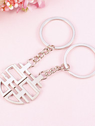 Chinese Characters Key Ring-Happiness(Set of  4 Pairs)