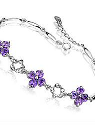 Wellwisher Four Leaves Clover Cute Silver Bracelet