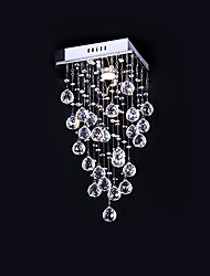 Dainty Stylish 1 Light Flush Mount In Crystal Decoration