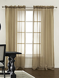 (Two Panels) Modern Stripe Warm Feeling Sheer Curtain