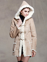 Women's Coats & Jackets , Acrylic/Polyester Sexy/Party/Work GENIAL