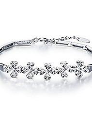 Magus Four Leaves Clover Silver Bracelet