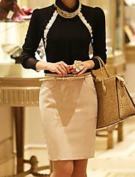 Frauen elegante Mini Rock mit Gürtel