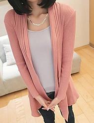 Women's Coats & Jackets , Cotton Casual Long Sleeve LOONGZY
