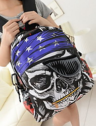 Fashion Casual Skull Pattern Backpack