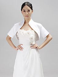 Wedding  Wraps Coats/Jackets Short Sleeve Satin White Wedding / Party/Evening Open Front