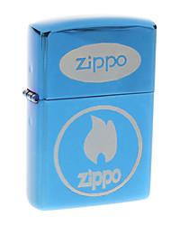 Zippo Blue Flame Pattern Metal Windproof Oil Lighter