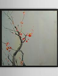 Wintersweet Direction florale encadrée peinture à l'huile