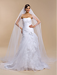Wedding Veil One-tier Cathedral Veils 106.3 in (270cm) Tulle White / Ivory