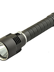 LT Single-Mode CREE L2 Super Bright LED Taschenlampe Tauchen (980Lm, 2x18650, Schwarz)