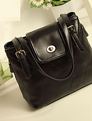 Lady Fashion Classic PU Leather Tote/Crossbody Bag