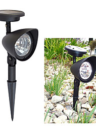 1 Stück White Light Solar Rasen Licht Solar Spot Light 3 helle LED-Lampen für Garten (CIS-57140)