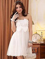 Blanc Princesse bowknot Skater Dress JK2 femmes