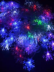 20-LED wasserdichte 4M EU-Stecker außen Weihnachtsfeiertagsdekoration Blume RGB-Licht LED-Schnur-Licht (220V)