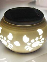 Chic Ceramic RGB Color-Changing LED Solar Powered Garden Light -Solar Table Light- Solar Small Night Light In Jar Design
