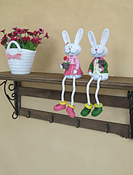 Country Style Retro Shelf With Hooks