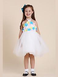 Girl's Halter Flowers Top Dress